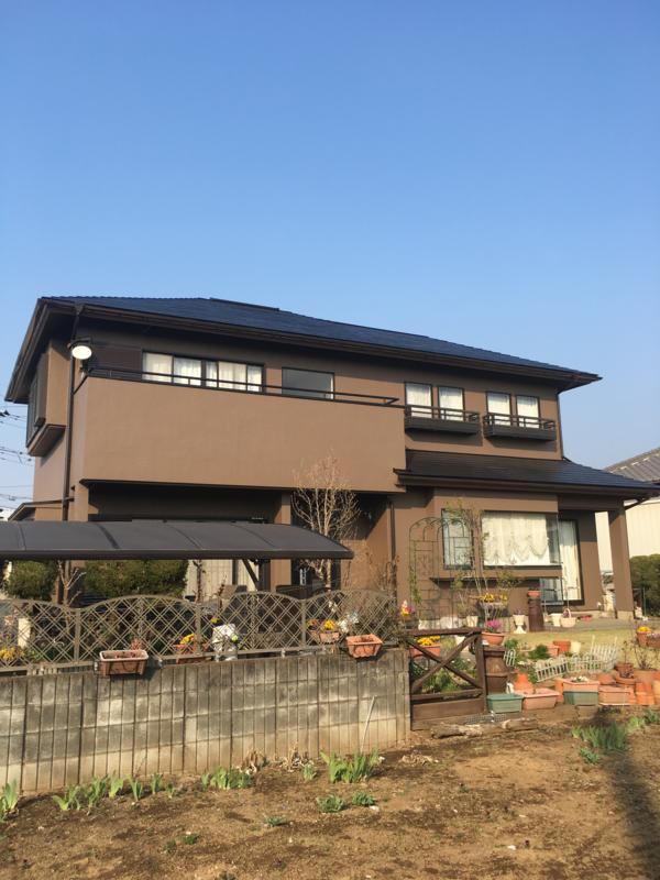 野木町 K様邸 外壁・屋根塗装 ベランダ防水塗装